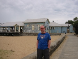 Diver dan boatshed at Barwon Heads