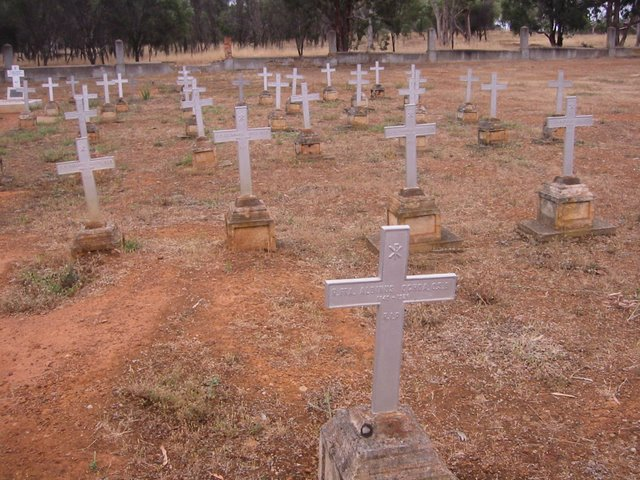 The graveyard at New Norcia, Western Australia