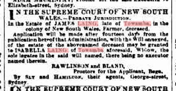 Sydney Morning Herald Friday 27 February 1891