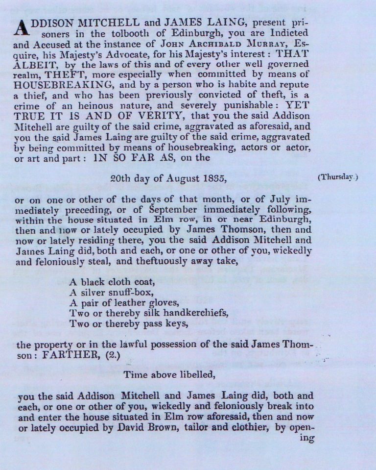 James Laing court record page 2