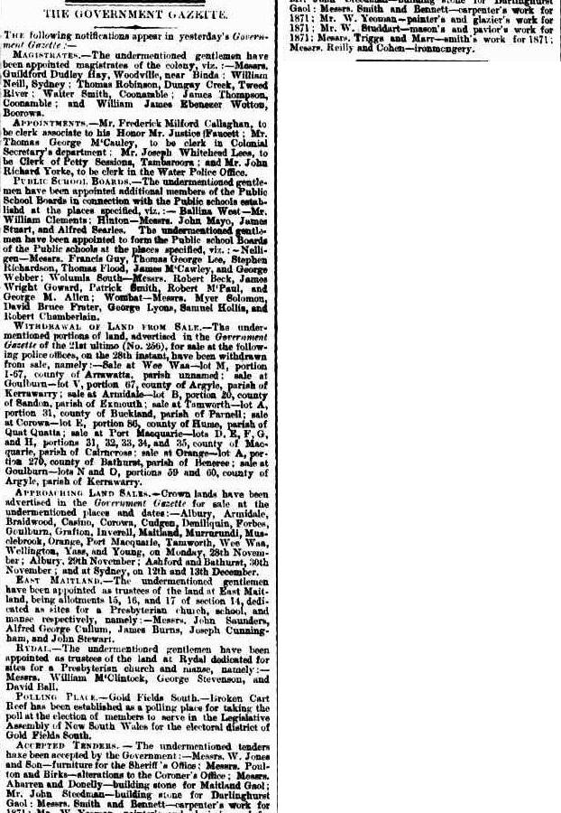 The Sydney Morning Herald (NSW : 1842-1954), Saturday 26 November 1870, page 7