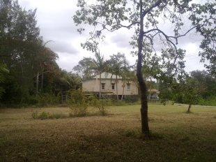 An empty paddock where 8 Baillie Street, North Lismore used to be located.
