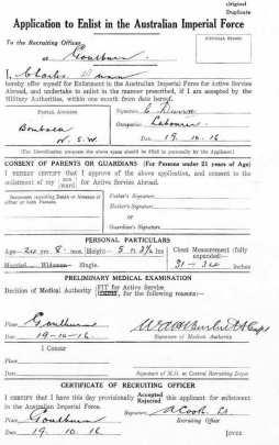 Charles Henry Dunn Enlistment