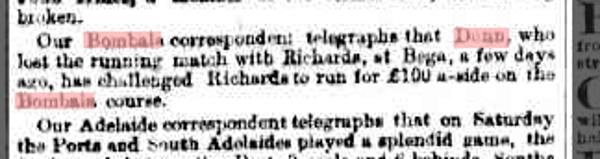 Sydney Morning Herald Monday 28 July 1884