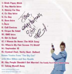 Eddie Perfect Signed CD