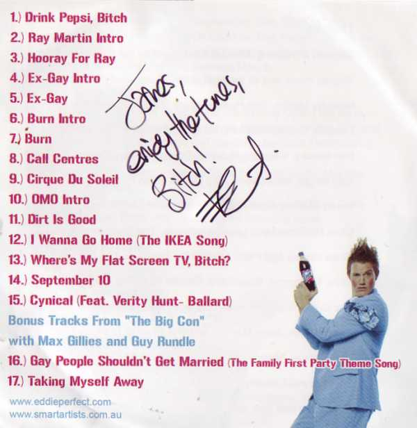 Eddie Perfect Signed CD