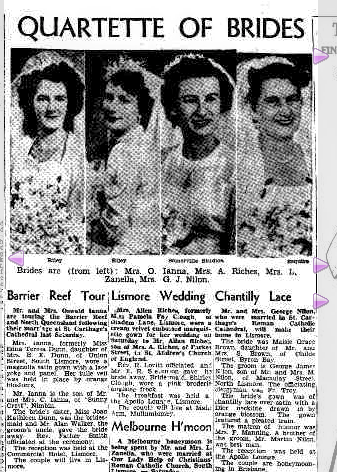 Edna Wedding in Northern Star Tuesday 7 August 1951