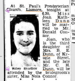 joandunnmarriesdonaldconnor1954