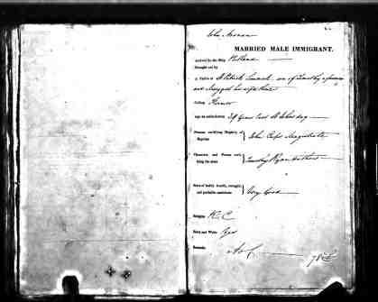 John Noonan arrived on Portland Shipping Records No. 3