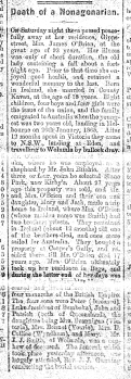 An obituary published after her death, gives a brief insight into Marys life after the death of James.