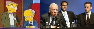 Rupert Murdoch and Monty Burns