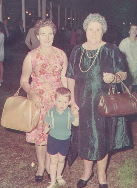 Mum, Granny, me, Lismore Show 1960s