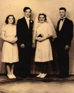 Wedding of Albert Bernard O'Brien and Bertha Ann Dunn