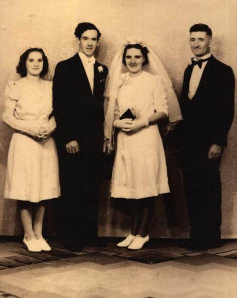 Wedding of Albert Bernard O'Brien and Bertha Ann Dunn