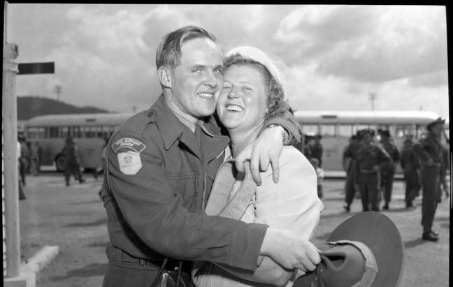 Private Roy O'Brien and his mother Mrs I Sowter of Lismore. http://remembrance2010.indev.com.au/#p=media/15/Korean-War