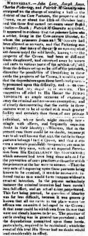 John Love in Sydney Gazette on Saturday 7 December 1816