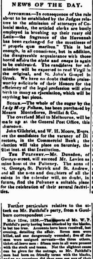 The Sydney Monitor Friday 18 May 1838
