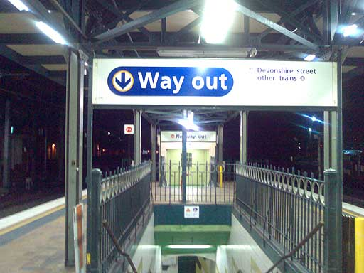 Central Station Sydney - leaving the platform, headed towards Devonshire Street