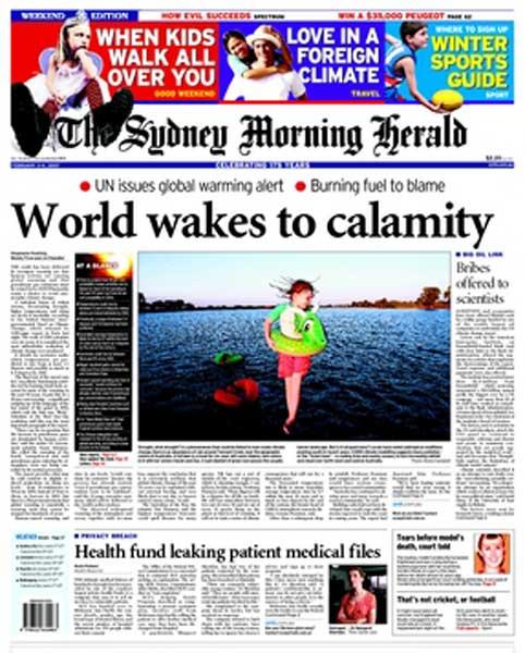 World Calamity - Sydney Morning Herald 030207