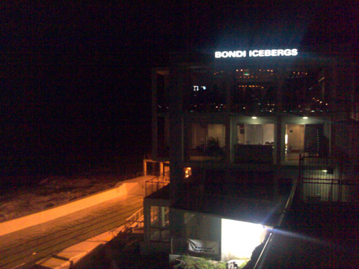 Bondi Icebergs at night