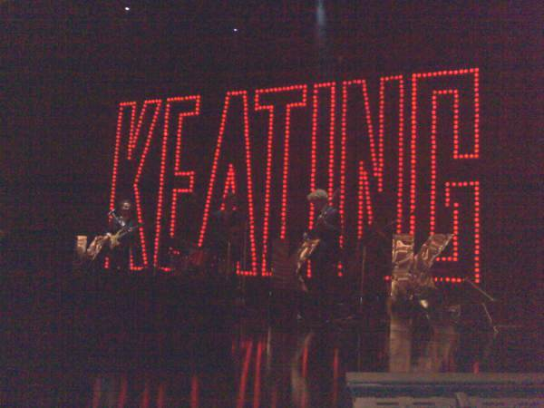 A shot from interval during Keating - The Musical at Sydney's Seymour Centre, Australia