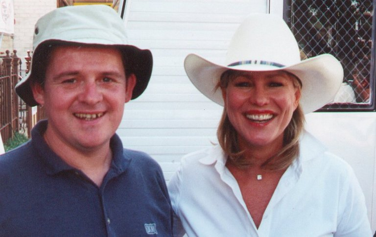 A photograph of when I met Kerry-Anne at the Tamworth Country Music Festival.