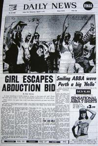 ABBA on the front page of Perth's Daily News