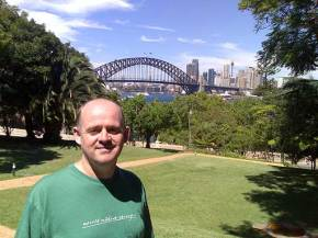 Anglican Church at St Leonards, North Sydney, with terrific views of the Sydney Harbour Bridge.