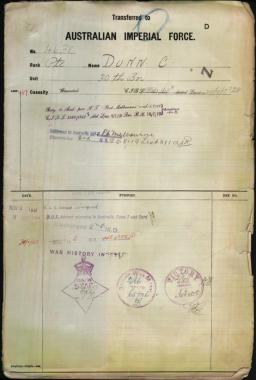 Charles Dunn War Records