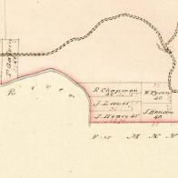 Adjoining land owned by John Love and his son-in-law, John Hoare.