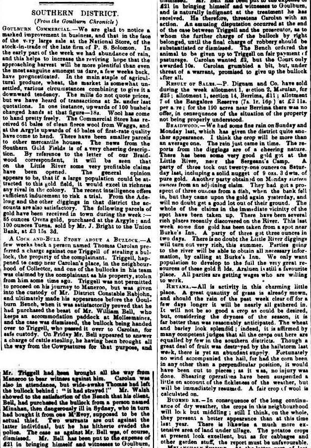 Sydney Morning Herald Tuesday 11 December 1855, page 3