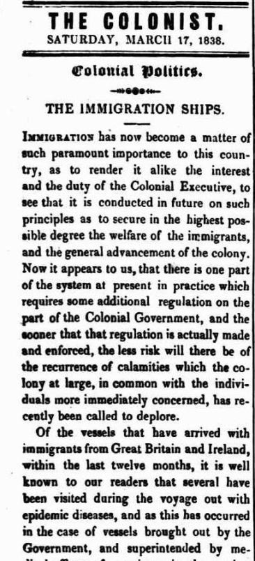 The Colonist (Sydney, NSW : 1835-1840), Saturday 17 March 1838, page 2