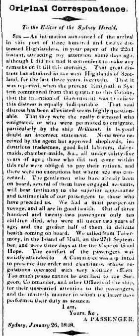 The Sydney Herald (NSW : 1831-1842), Thursday 1 February 1838, page 2