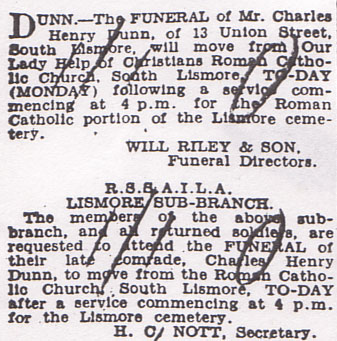 Charles Dunn Death Notice