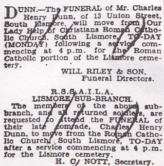 Charles Dunn Death Notice