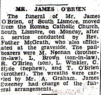 James Joseph O'Brien Obit