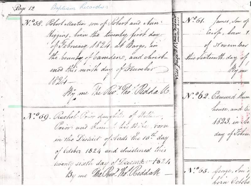 Thanks to fellow Higgins researcher, Greg Tevelen. for this baptism notice for Robert Martin Higgins.