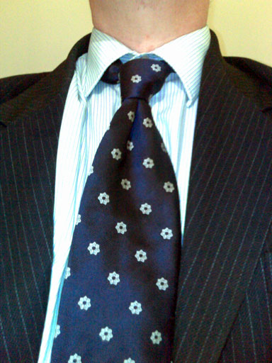 I was given it at work yesterday and, having gone to work without a tie yesterday, I immediately put it on. That is quite a nice tie, a colleague said, though she recoiled in horror when I told her what it was.