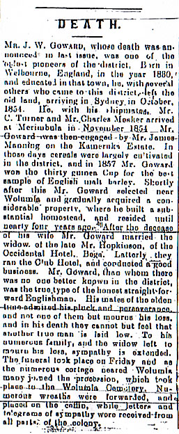 James Wright Goward Obit