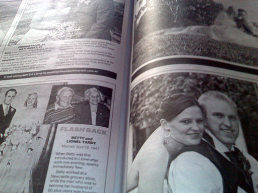 About the only good thing worth reading in the Sunday papers, these days, is the wedding profiles.