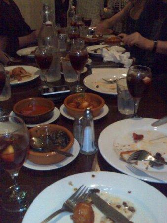 The chorizo, the mushrooms, the prawns were all very tasty.