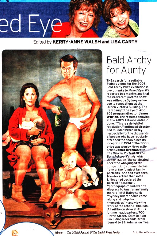 Sun-Herald report about the prize finding an exihibition space at the ABC Ultimo Centre.