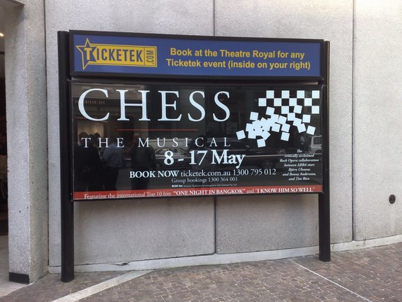 Chess at Theatre Royal, Sydney