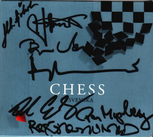 Signed Copy of Chess pa Svenska