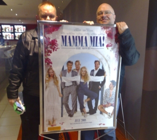 Graeme and Grant at the Mamma Mia movie preview in Sydney