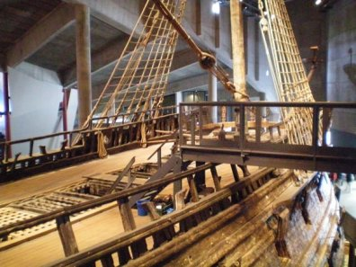 A ship inside a museum. The Vasa Museum in Stockholm.