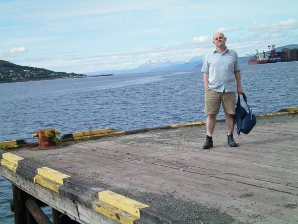 On the wharf at Narvik, Norway.
