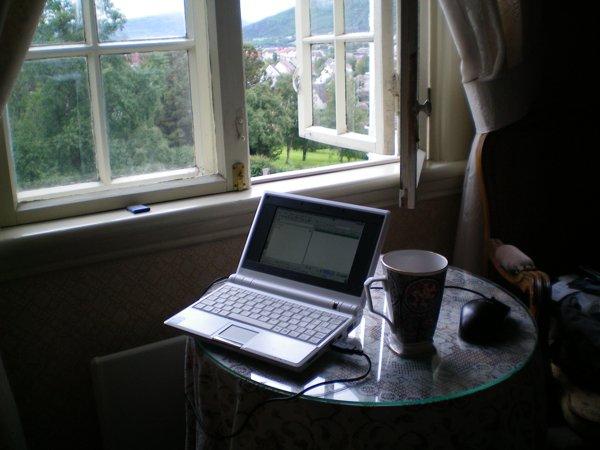 My room at Norumgarden B&B in Narvik, Norway.