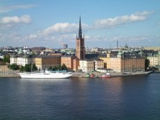 View from Sodermalm Cliffs, Stockholm