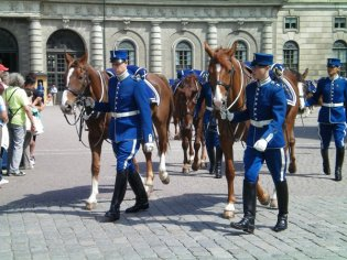 Changing of the guard, Royal Palace in Stockholm